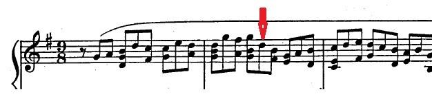 バッハ「カンタータ「心と口と行いと生活で」第10曲「主よ、人の望みの喜びよ」ト長調BWV147-10/ピアノ編曲:ハロルド・バウアー(マイラ・ヘス)」楽譜4