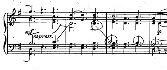 バッハ「カンタータ「心と口と行いと生活で」第10曲「主よ、人の望みの喜びよ」ト長調BWV147-10/ピアノ編曲:ハロルド・バウアー(マイラ・ヘス)」楽譜6