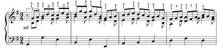 バッハ「カンタータ「心と口と行いと生活で」第10曲「主よ、人の望みの喜びよ」ト長調BWV147-10/ピアノ編曲:ハロルド・バウアー(マイラ・ヘス)」楽譜7