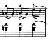 ブルグミュラー「25の練習曲第5番「無邪気」ヘ長調Op.100-5」ピアノ楽譜2