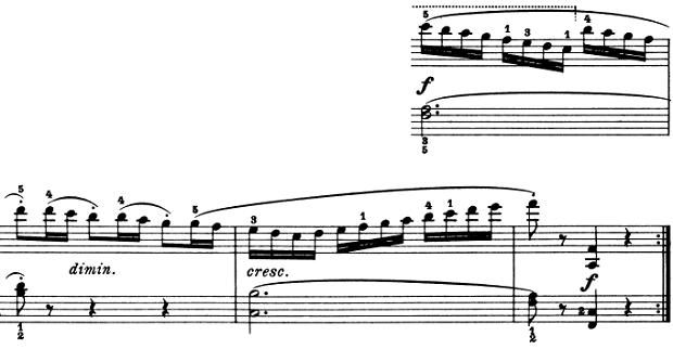 ブルグミュラー「25の練習曲第5番「無邪気」ヘ長調Op.100-5」ピアノ楽譜5