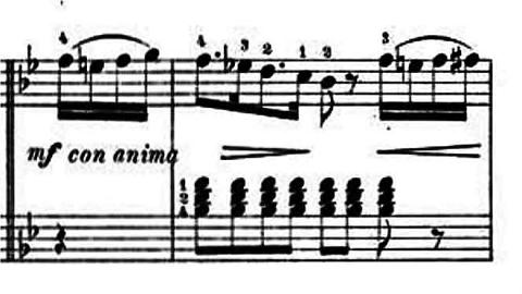 ランゲ「子どもの世界からの声:12のやさしい演奏曲第3曲「野ばら」ヘ長調Op.78-3」ピアノ楽譜4