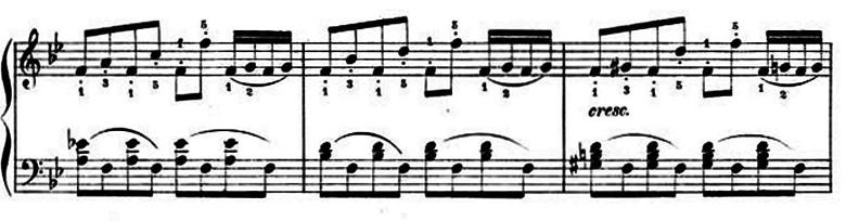 ランゲ「子どもの世界からの声:12のやさしい演奏曲第3曲「野ばら」ヘ長調Op.78-3」ピアノ楽譜5