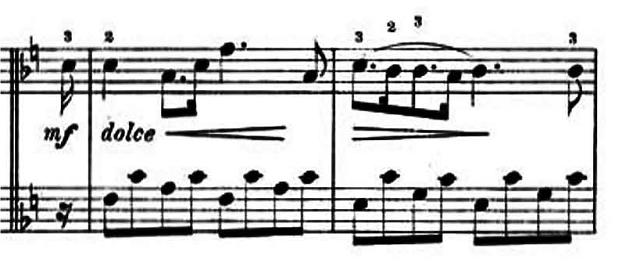 ランゲ「子どもの世界からの声:12のやさしい演奏曲第3曲「野ばら」ヘ長調Op.78-3」ピアノ楽譜6