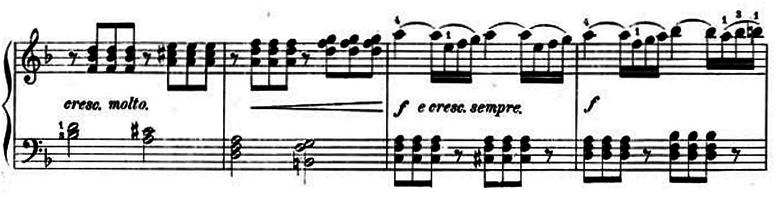 ランゲ「子どもの世界からの声:12のやさしい演奏曲第3曲「野ばら」ヘ長調Op.78-3」ピアノ楽譜7