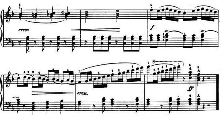 ランゲ「子どもの世界からの声:12のやさしい演奏曲第3曲「野ばら」ヘ長調Op.78-3」ピアノ楽譜8