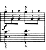 ブルグミュラー「25の練習曲第9番「狩猟」ハ長調Op.100-9」ピアノ楽譜2