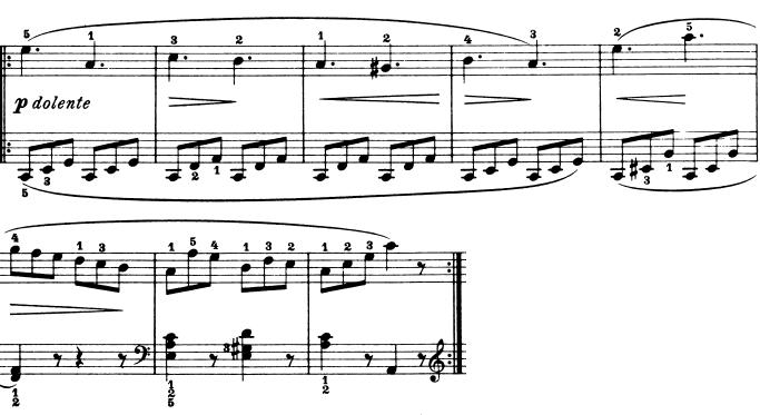 ブルグミュラー「25の練習曲第9番「狩猟」ハ長調Op.100-9」ピアノ楽譜3