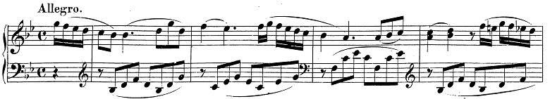 モーツァルト「ピアノソナタ第13番変ロ長調K.333第1楽章」ピアノ楽譜1