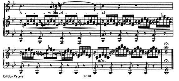シューベルト「アヴェマリア」ピアノ楽譜2