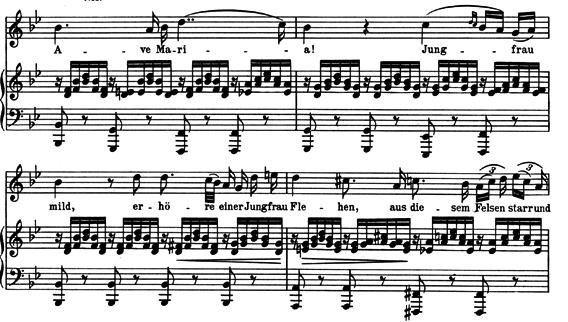 シューベルト「アヴェマリア」ピアノ楽譜3
