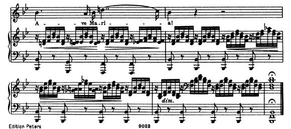 シューベルト「アヴェマリア」ピアノ楽譜5