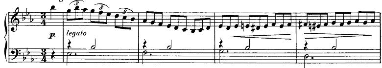 シューベルト「即興曲第2番Op.90-2」ピアノ楽譜2