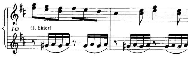 ショパンの連弾曲「ムーアの民族的な歌による変奏曲」ニ長調Op.P1-6エキエル編集のピアノ楽譜