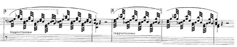 ショパンの連弾曲「ムーアの民族的な歌による変奏曲」ニ長調Op.P1-6腕の見せ所部分のピアノ楽譜