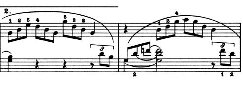 ブルグミュラー「25の練習曲第21番「天使の合唱」ト長調Op.100-21」ピアノ楽譜2