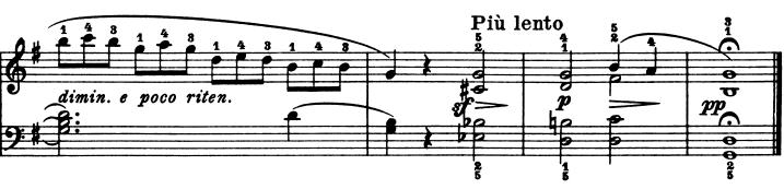 ブルグミュラー「25の練習曲第21番「天使の合唱」ト長調Op.100-21」ピアノ楽譜3