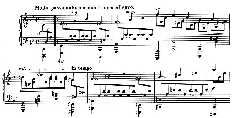 ブラームス「2つのラプソディ第2番ト短調Op.79-2」ピアノ楽譜1