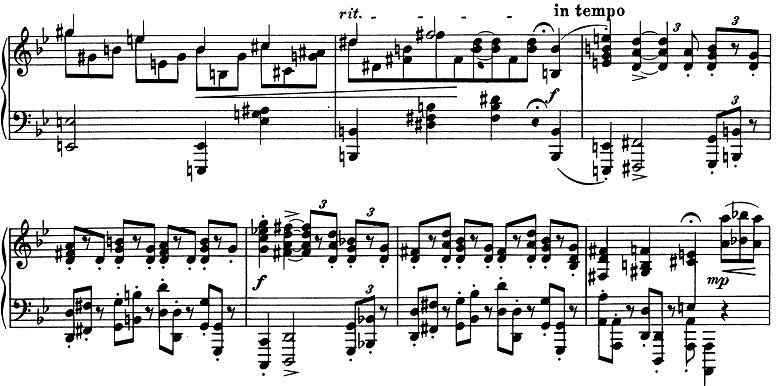 ブラームス「2つのラプソディ第2番ト短調Op.79-2」ピアノ楽譜2