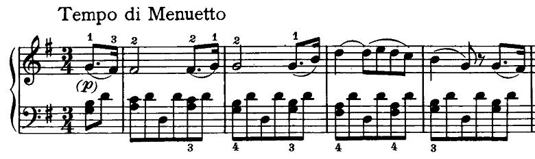 ベートーヴェン「ピアノソナタ第20番ト長調Op.49-2第2楽章」ピアノ楽譜1