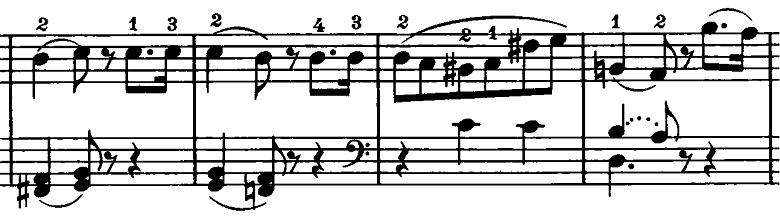 ベートーヴェン「ピアノソナタ第20番ト長調Op.49-2第2楽章」ピアノ楽譜2