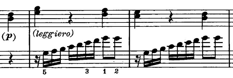 ベートーヴェン「ピアノソナタ第20番ト長調Op.49-2第2楽章」ピアノ楽譜4