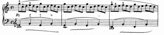 ツェルニー(チェルニー)「30番練習曲第1番ハ長調Op.849-1」ピアノ楽譜2
