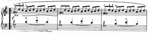 ツェルニー(チェルニー)「30番練習曲第1番ハ長調Op.849-1」ピアノ楽譜4