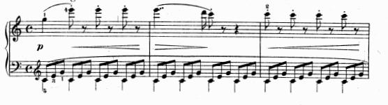 ツェルニー(チェルニー)「30番練習曲第2番ハ長調Op.849-2」ピアノ楽譜1