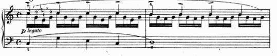 ツェルニー(チェルニー)「30番練習曲第4番ハ長調Op.849-4」ピアノ楽譜