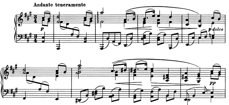 ブラームス「ピアノのための6つの小品第2曲「間奏曲」イ長調Op.118-2」ピアノ楽譜1