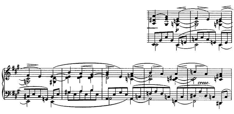 ブラームス「ピアノのための6つの小品第2曲「間奏曲」イ長調Op.118-2」ピアノ楽譜2