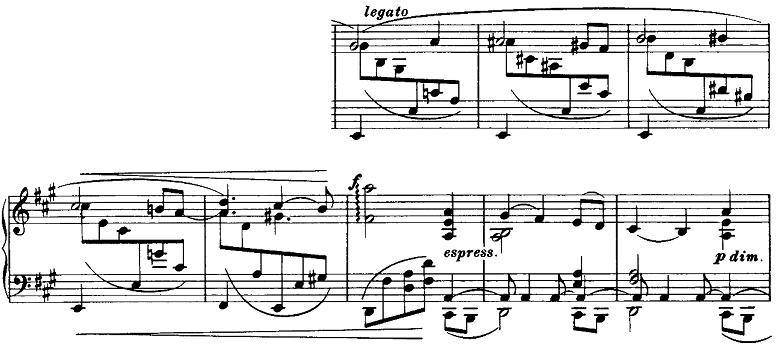 ブラームス「ピアノのための6つの小品第2曲「間奏曲」イ長調Op.118-2」ピアノ楽譜3