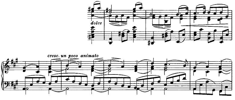 ブラームス「ピアノのための6つの小品第2曲「間奏曲」イ長調Op.118-2」ピアノ楽譜4