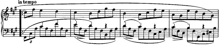 ブラームス「ピアノのための6つの小品第2曲「間奏曲」イ長調Op.118-2」ピアノ楽譜5