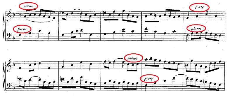 バッハ「クラヴィーア練習曲集第2巻「イタリア協奏曲」ヘ長調BWV971第3楽章」ピアノ楽譜2