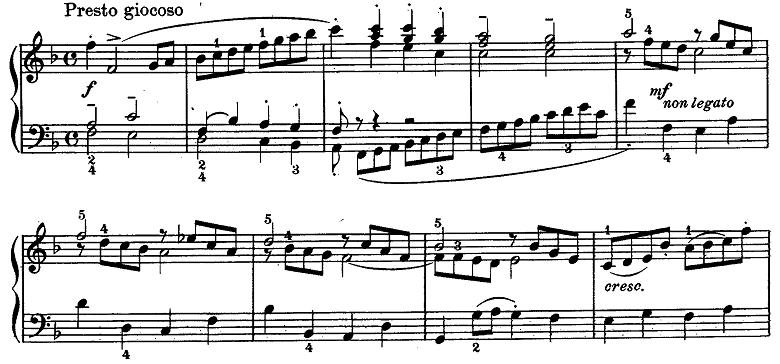 バッハ「クラヴィーア練習曲集第2巻「イタリア協奏曲」ヘ長調BWV971第3楽章」ピアノ楽譜3