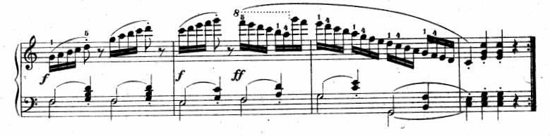 ツェルニー(チェルニー)「30番練習曲第6番ハ長調Op.849-6」ピアノ楽譜2