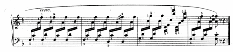 ツェルニー(チェルニー)「30番練習曲第10番ヘ長調Op.849-10」ピアノ楽譜2
