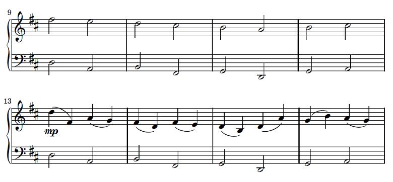 パッヘルベル「カノン」ピアノ初級楽譜1