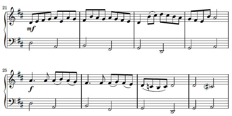 パッヘルベル「カノン」ピアノ初級楽譜2