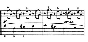 ブルグミュラー「25の練習曲Op.100」第7番「清らかな小川(流れ)」ト長調 ピアノ楽譜2