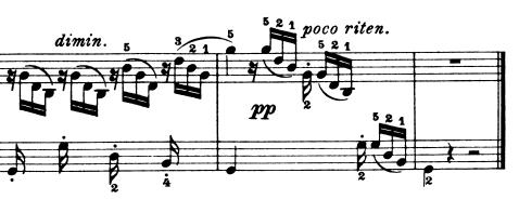 ブルグミュラー25の練習曲第24番「つばめ」ト長調Op.100-24 ピアノ楽譜2