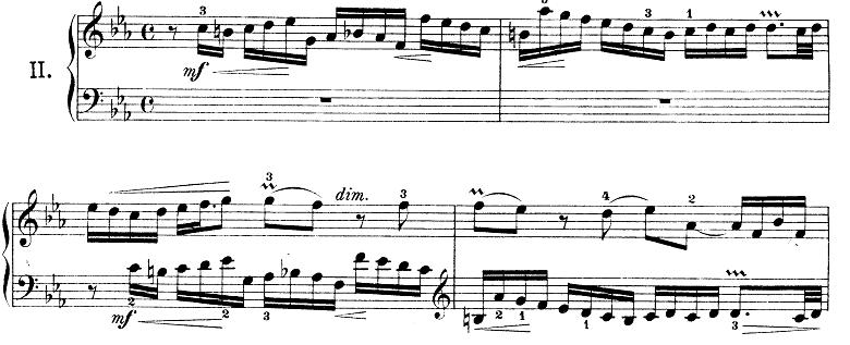 バッハ「インベンション第2番ハ短調BWV773」ピアノ楽譜
