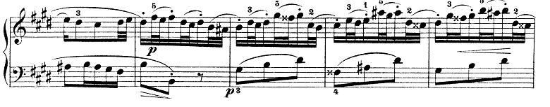 バッハ「インベンション第6番ホ長調BWV777」ピアノ楽譜1