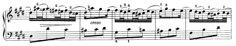 バッハ「インベンション第6番ホ長調BWV777」ピアノ楽譜2