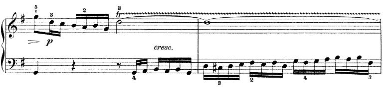 バッハ「インベンション第7番ホ短調BWV778」ピアノ楽譜1