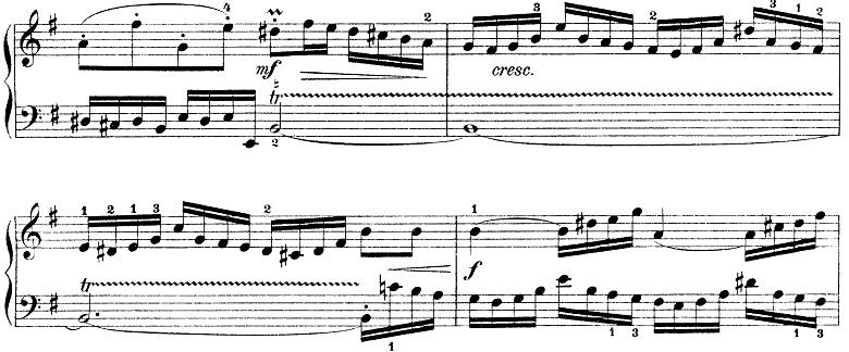 バッハ「インベンション第7番ホ短調BWV778」ピアノ楽譜2