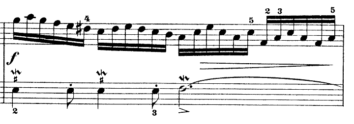 バッハ「インベンション第12番イ長調BWV783」ピアノ楽譜2
