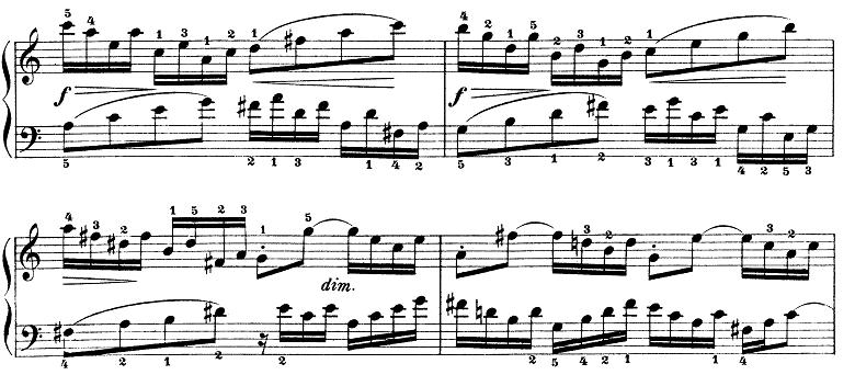 バッハ「インベンション第13番イ短調BWV784」ピアノ楽譜